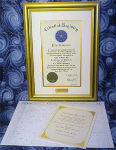 Gold Framed Star Package